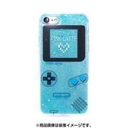 74232 [iPhone 8/iPhone 7 対応ケース PINK-latte ゲーム/ブルー ラメ]