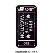 74231 [iPhone 8/iPhone 7 対応ケース PINK-latte ADMT ONE/ブラック ラメ]