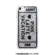 74231 [iPhone 8/iPhone 7 対応ケース PINK-latte ADMT ONE/シルバー ラメ]