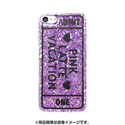 74231 [iPhone 8/iPhone 7 対応ケース PINK-latte ADMT ONE/パープル ラメ]