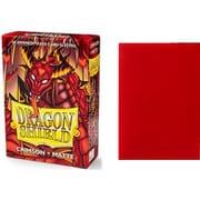 11121 ドラゴンシールドマット ジャパニーズ クリムゾン 59×86mm用 60枚入り [トレーディングカード用品]