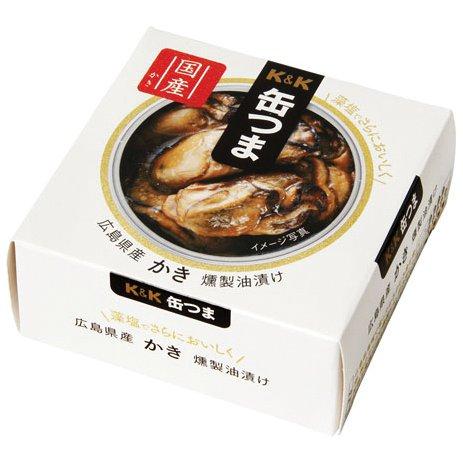 缶つま 広島県産 かき燻製油漬け60g