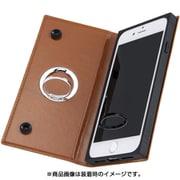IN-P7SKBC1/K [iPhone 7/iPhone 8対応 手帳型 耐衝撃レザーケース KAKU ケース キャメル]