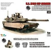 ミリタリーシリーズ 7310I M1A2 SEP エイブラムス TUSK I w/M153 CROWSII アイアンオークリーフセット [1/72 プラモデル]