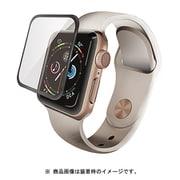 AW-40FLGGRBK [Apple Watch 40mm フルカバーガラスフィルム 0.33mm ブラック]