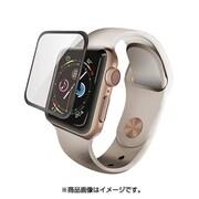 AW-44FLGFRBK [Apple Watch 44mm フルカバーガラスフィルム フレーム付き 液晶保護フィルム ブラック]