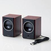 MS-W13UBK [木のスピーカー 5W USB電源 ブラック]
