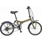 JEEP JE-206GRS OLIVE [折りたたみ自転車 20×1.95 E/V フレーム 354mm]