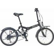 JEEP JE-206GRS BLACK [折りたたみ自転車 20×1.95 E/V フレーム 354mm]
