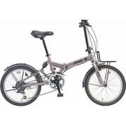 JEEP JE-206GRS GUNMETAL [折りたたみ自転車 20×1.95 E/V フレーム 354mm]