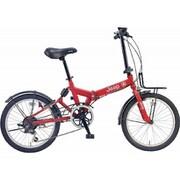 JEEP JE-206GRS RED [折りたたみ自転車 20×1.95 E/V フレーム 354mm]