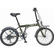JEEP JE-206GLE ARMY GREEN [折りたたみ自転車 20×1.95 E/V フレーム 354mm]