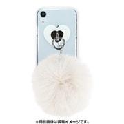 AB-0963-IPXR-WHIT [iPhone XR クリアケース ギズモビーズ ダズリン FUR CREAM WHITE]