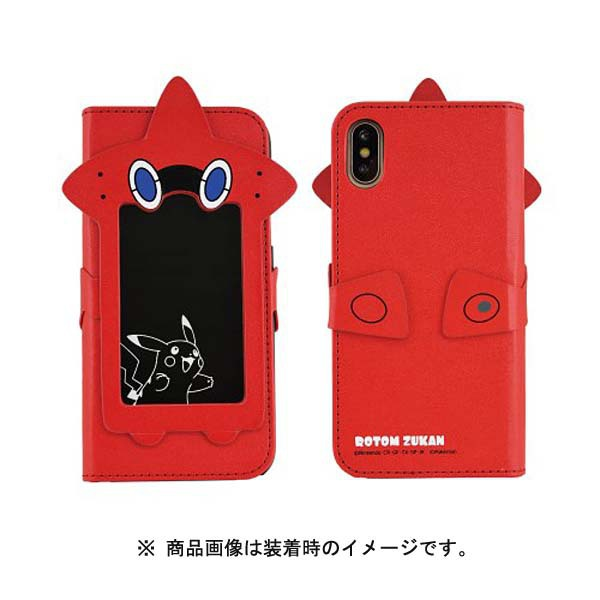 POKE-591A [フリップカバーiPhone XS/X ポケモン/ロトム図鑑]