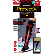 プロテクトX メディカル 一般医療機器 強圧リカバリー オープントゥ着圧ソックス 膝上ロング太もも ブラック M-Lサイズ