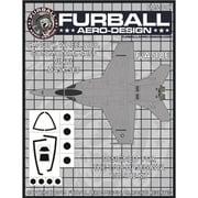 FMS-007 F/A-18E キャノピー ガンノズル IFF&ホイールハブ用マスクセット [1/48 マスキングシートセット]