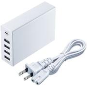 ACA-PD57W [USB Power Delivery対応AC充電器 5ポート 合計60W ホワイト]