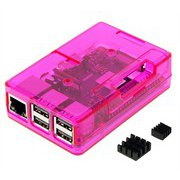 TSI-Pi044-Pink [Raspberry Pi3 Model B+ ボード&ケースセット]