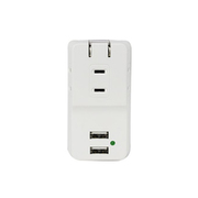 MTA1801WH [急速充電・雷サージ対応 USBポート付きACタップ 3コンセント+USB-A×2]