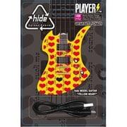 ギター型モバイルバッテリー PLAYERS MOBILE BATTERY CHARGER 2500mAh hide MODEL GUITAR YELLOW HEART ver.