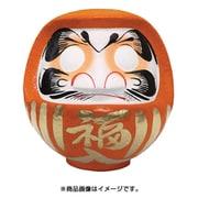 HKDM-8-OR-7 [福だるま 8号 オレンジ 【必勝祈願・大願成就】 25×21×26cm]