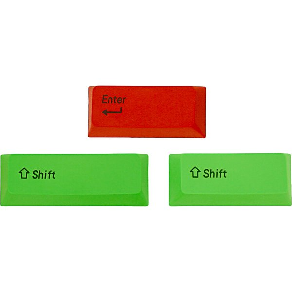 AS-CKPBS04N [PBTカラーアクセサリーキーキャップ キーキャップのみモデル US配列用 赤Enter/緑Shiftキー]