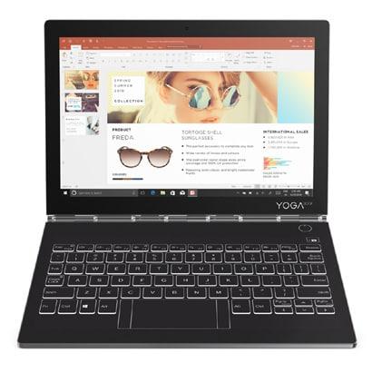 ZA3S0142JP [Yoga Book C930 10.8型/Core i5-7Y54/メモリ 4GB/SSD 256GB/ドライブレス/Windows 10 Home 64ビット/Microsoft Office Home & Business 2016/アイアングレー]