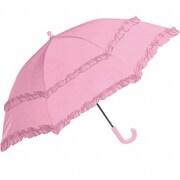 31408 キッズ 傘 45cm 手開き傘 フリル付き子供傘 ピンク