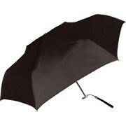429001 紳士折り畳み傘 Bag付/無地フラット 55cm BK