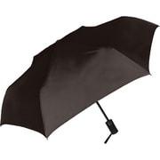 429002 紳士折り畳み傘 自動開閉/無地 55cm ブラック