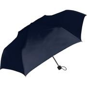 429004 紳士折り畳み傘 耐風/無地 65cm ネイビー
