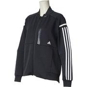 FTK79 [W adidas 24/7 ヘザー ウォームアップジャケット ブラック J/OT]