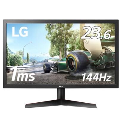 24GL600F-B [23.6型 フルHD ゲーミングモニター 1920×1080 応答速度1ms/リフレッシュレート144Hz対応/DisplayPort/FreeSyn/DAS Mode/1ms Motion Blur Reduction /フリッカーセーフ/ブルーライト低減]