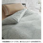 2134-02134 [Good Night Plus 掛けふとんカバー グリーン サテン織 約150×210cm シングル]