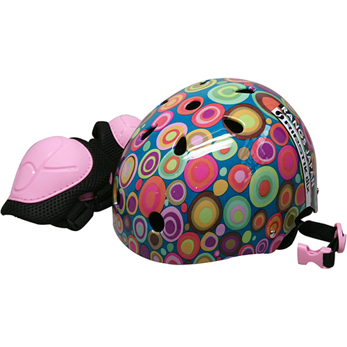 ジュニアスポーツヘルメット ピンク [プロテクター付ヘルメット]
