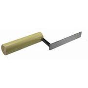 平目地鏝(人造) 18mm 105mm [左官用品]