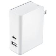 ACA-PD62W [Power Delivery対応 AC充電器 (2ポート・合計30W)]