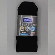 4040-2P-L デオセル消臭 先丸ソックス 黒