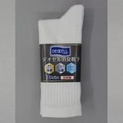 4092-3P デオセル消臭靴下先丸 白 L