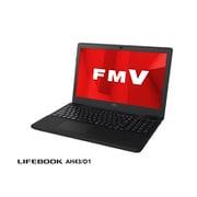 FMVA43D1BP [ノートパソコン LIFEBOOK AHシリーズ/15.6型ワイド/Ryzen3 2300U/メモリ 4GB/SSD 256GB/DVDスーパーマルチ/Windows 10 Home 64ビット/Office Home and Business 2019/シャイニーブラック]
