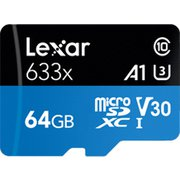 LSDMI64GBBAP633A [Lexar High-Performance 633x microSDXC UHS-I カード 64GB]