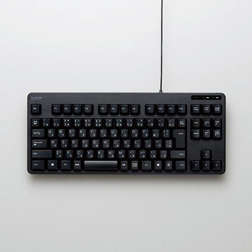 TK-FCM103BK [有線コンパクトキーボード USB接続 メンブレン式 日本語配列 92キー ブラック]