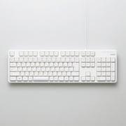 TK-FCM104WH [有線フルキーボード USB接続 メンブレン式 日本語配列 109キー ホワイト]