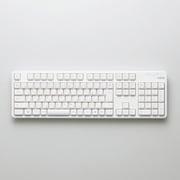 TK-FDM106TWH [無線フルキーボード USBレシーバー付属 メンブレン式 日本語配列 109キー ホワイト]