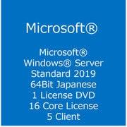 Windows Server Standard 2019 64Bit Japanese DVD 5 Clt 16 Core License [日本語版]