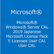 Windows Server CAL 2019 Japanese MLP 5 User CAL [ライセンスソフト]