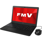 FMVA42D1B [ノートパソコン LIFEBOOK AHシリーズ/15.6型ワイド/Celeron 3865U/メモリ 4GB/HDD 1TB/DVDスーパーマルチ/Windows 10 Home 64ビット/Office Home and Business 2019/シャイニーブラック]