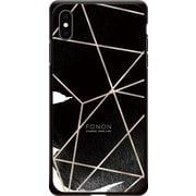 GCN-GP04-E-BK [GLASS PRINT iPhone XS Max GEOMETRIC PATTERN CowSpider BK]