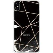 GCN-GP04-E-TL [GLASS PRINT iPhone XS Max GEOMETRIC PATTERN CowSpider TL]