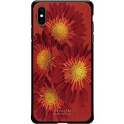 GCN-FR01-E-BK [GLASS PRINT iPhone XS Max FLORAL Aflican Daisy BK]